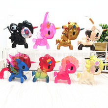 8 pcs/set Kids my cute little Rainbow Toy Action dolls poni for children toys vinyl doll CHRISTMAS GIFT FOR GIRL