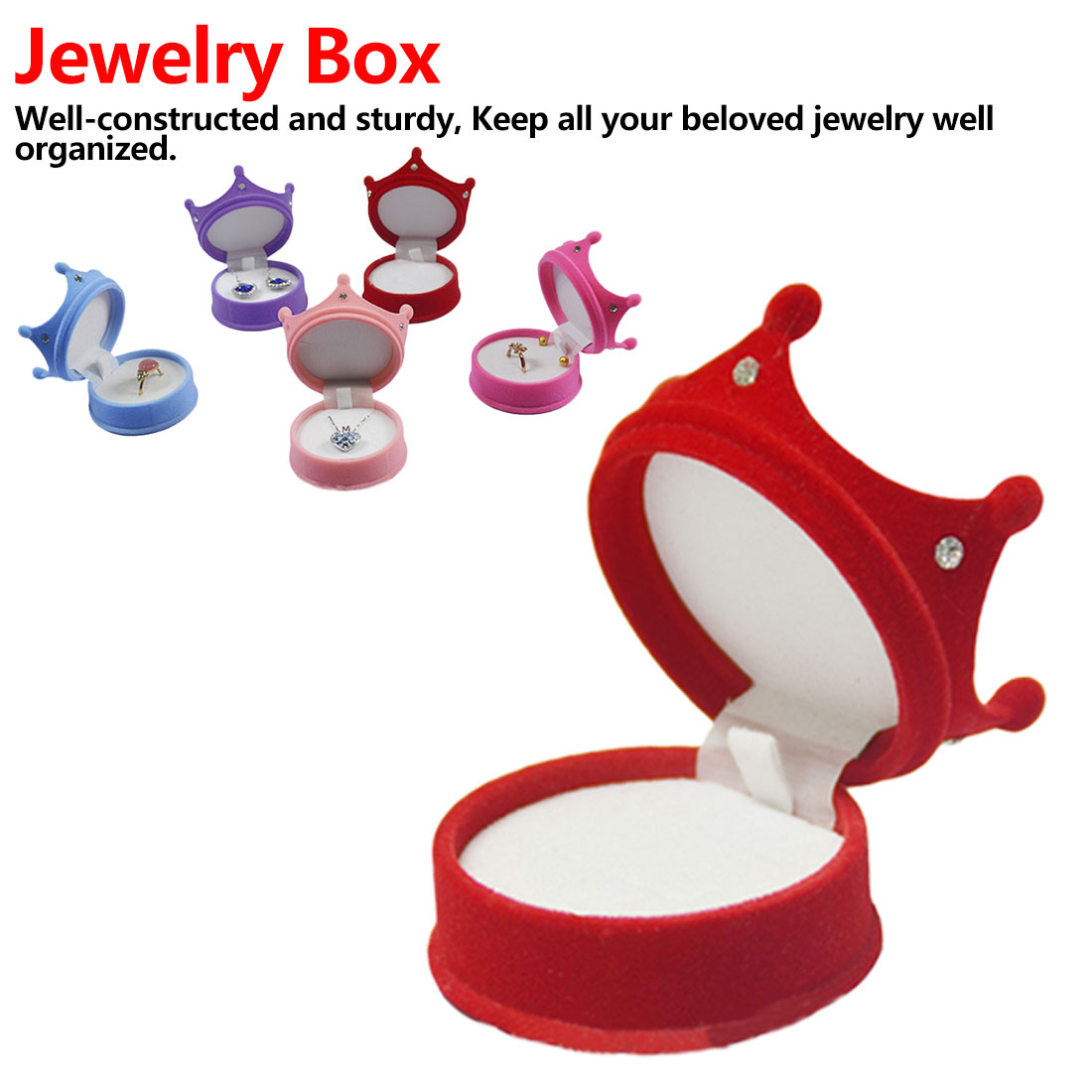 Gift Box Holder 5 Colors Shape Velvet Ring Earrings Engagement Well-constructed Display Necklace Wedding