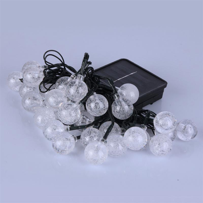 Globe Solar Starry Ball 30 LED Outdoor Fairy Lights With 8 Modes Controller For House Garden Christmas Party Festvial Decoration