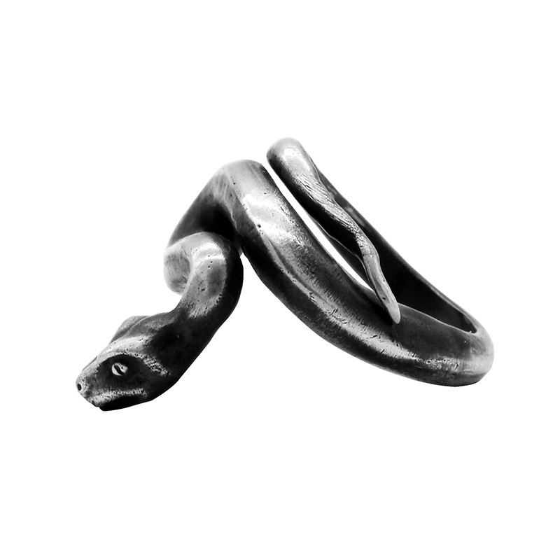 Men and Women Original Handmade Silver Jewelry Art House Dark Snake Type 925 Sterling Silver Old Open Ring Men and Women Original Handmade Silver Jewelry Art House Dark Snake Type 925 Sterling Silver Old Open Ring