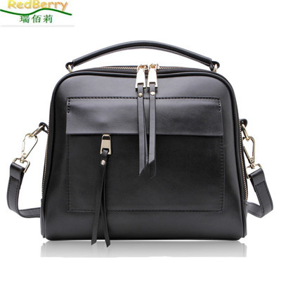 New Style Women Bag Casual Shoulder Bags for Woman High-grade Leather Retro Messenger Bags Solid Tassel Handbag Tote bolsas new style messenger bag men leather top grade all match hasp fashion retro cow leather men bag solid color small shoulder bags