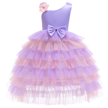 New mesh stitching fluffy dress princess European and American cute