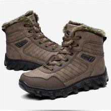 купить HighTop Outdoor Big Size Men Hiking Shoes Winter Keep Warm Walking Jogging Shoes Comfortable Sport Boots Climbing Sneakers 39-48 дешево