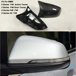 Wymiana Carbon Fiber osłony lusterek czapki powłoki dla BMW X1 F48 F45 F49 CF 2 Series Touring F45 F46 GT 220i 228i M235i X2 F39