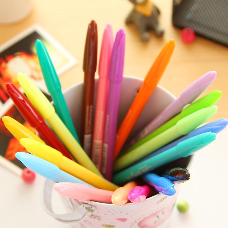 South Korea style watercolor pen creative color gel pen  fiber pen 20pcs/lot