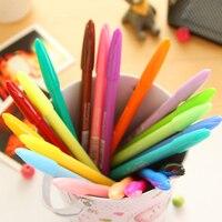 South Korea Pen Water Color Pen 24 Creative Color Pen Red Pen Stationery Fiber
