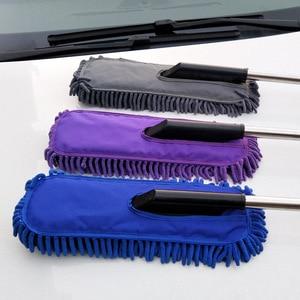 Image 2 - 1pc Microfiber Car Cleaning Tool Detailing Car Wash Brush Retractable Wheel Brush Super Absorbent Brush Car Care