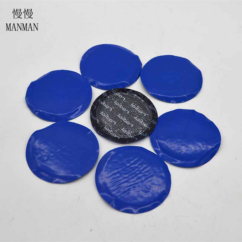50 Pieces /80mm High quality TECH tire repair film cold patch on the tubeless tire repair patch square patch]auto
