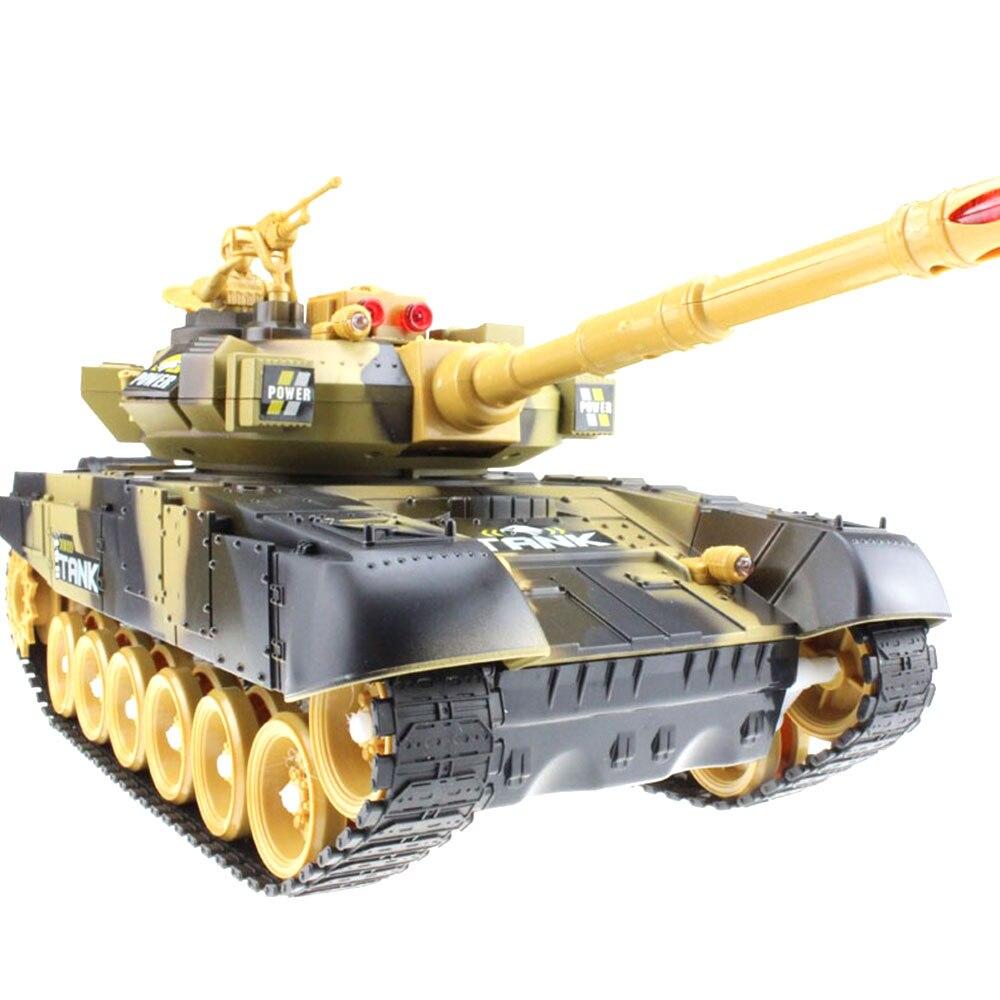 Крутая реалистичная модель танка с дистанционным управлением, многоцветная модель на открытом воздухе, развивающая интерес, модель танка автомобиля - Цвет: brown