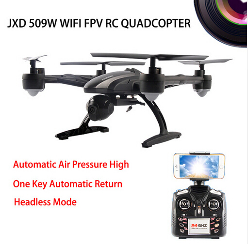 RC Quadcopter Smart WiFi FPV JXD 509W Android IOS Headless Aerial 6Axis 4CH RTF 2MP Camera Drone with Camera JXD 509G jxd 509w wifi fpv rc quadcopter rtf 2 4ghz with camera headless mode one key return christmas gift jxd 509 wifi version