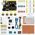¡Envío GRATUITO! Keyestudio UNO R3 pruebas kit para Arduino Proyecto de Educación con dupont cable + LED + Resistencia + PDF