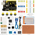 Free shipping! Keyestudio UNO R3 Breadboard kit For Arduino Education Project with dupont wire+LED+resistor+PDF