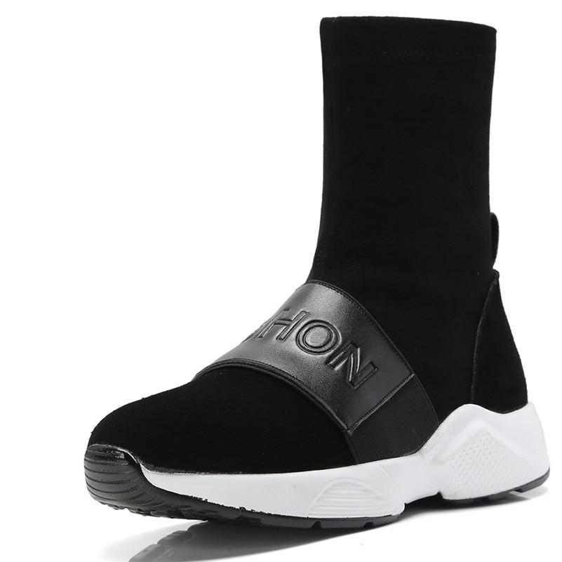 a37aae8998f8b5 Le Sneakers Automne Femme short Chaussures Qualité Bout Hiver Vache Femmes  Boots Daim Appartements Marque Chaud ...
