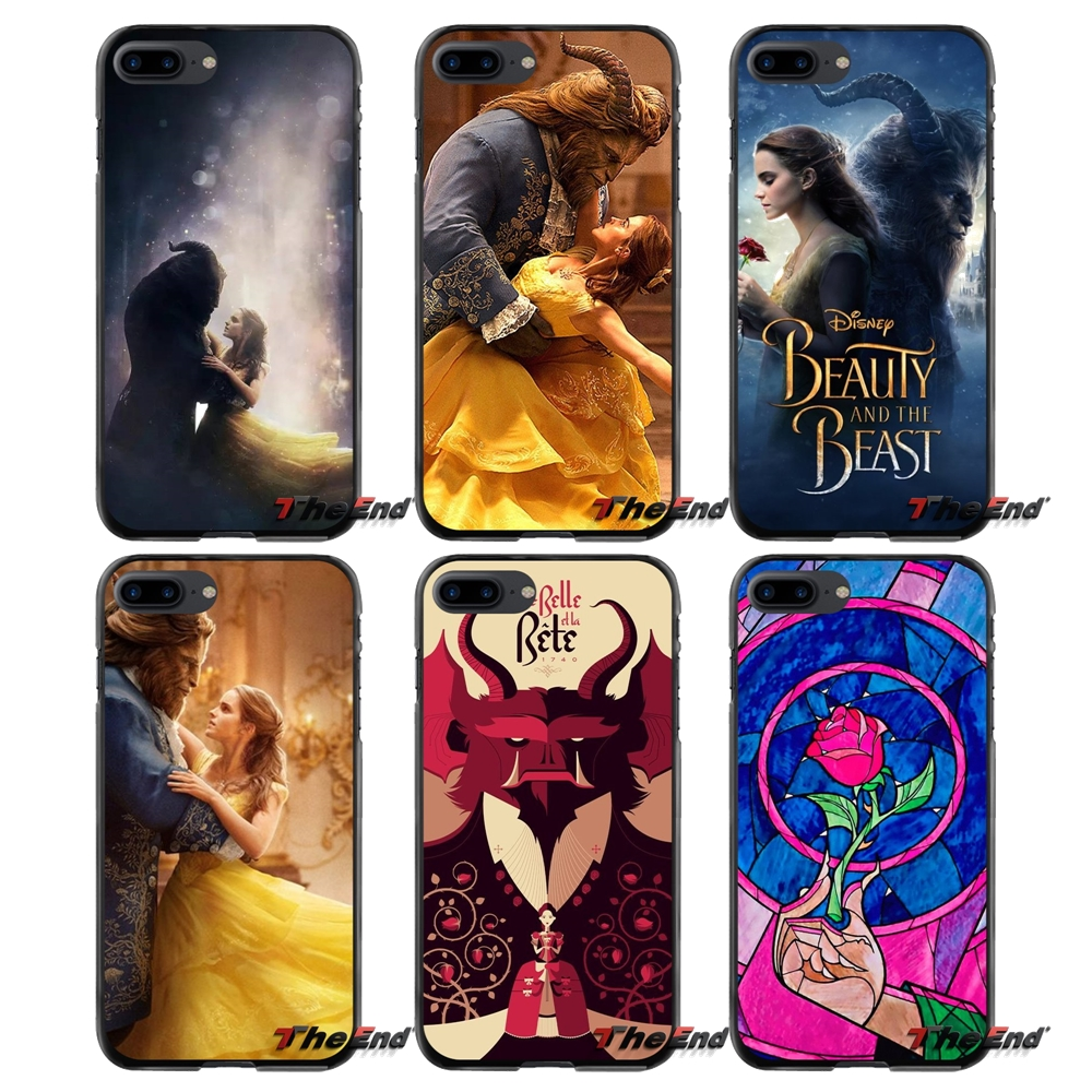 Accessories Phone Shell Cases For Apple iPhone 4 4S 5 5S 5C SE 6 6S 7 8 Plus X iPod Touch 4 5 6 Flower Rose Beauty and the Beast