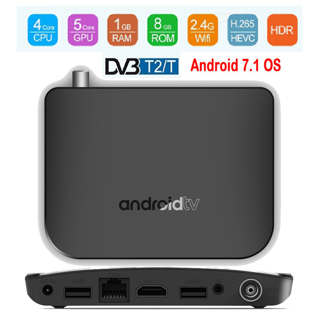 US $40 99 30% OFF MECOOL DVB T2/T Android TV Box Amlogic S905D Quad Core  1GB 8GB 1080p HDR10 4K Youtube Google Play Store Netflix MECOOL M8S PLUS-in