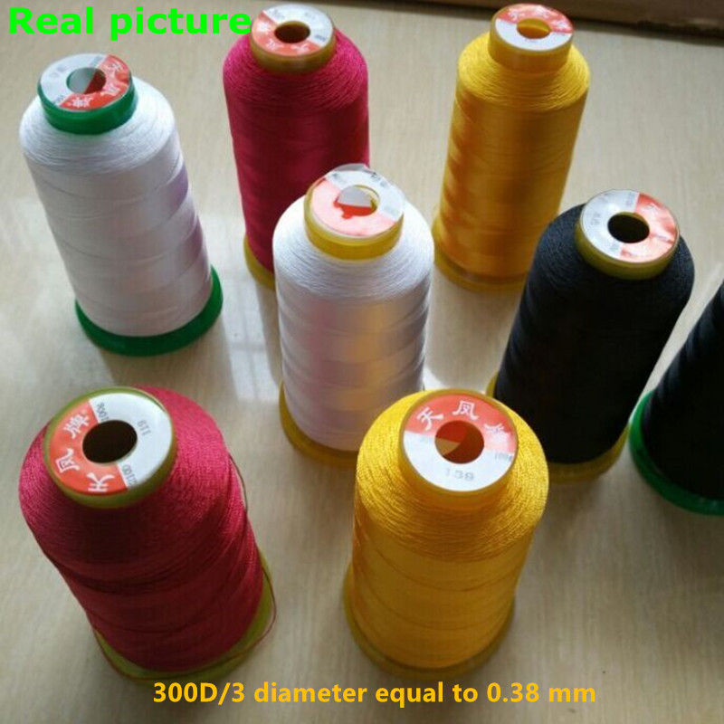 900meters , 0.38mm High tenacity polyester blue sewing threads Suitable for Canvas/Leather/Sofa soccer balls size 4