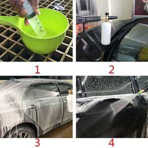 "Image 4 - רכב Foamer לשטוף Jet בקבוק 1/4 ""שלג קצף לאנס תותח מכונת כביסה אקדח סבון לחץ לחץ מרבי 220BAR מקס טמפ 60 צלזיוס"