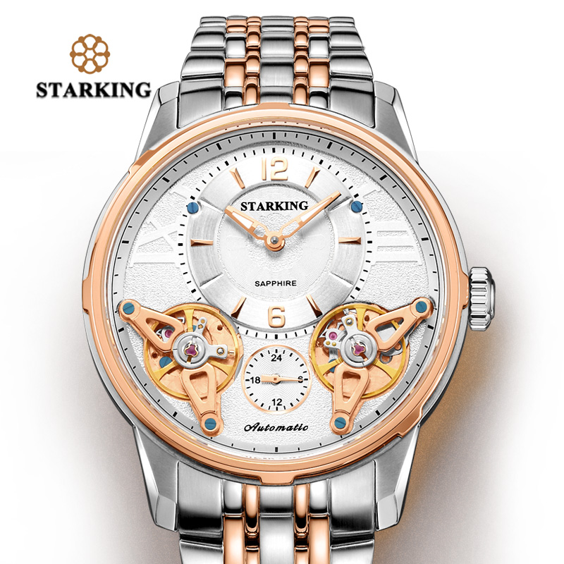 Starking Relojes Mens Stainless steel Automatic Mechanical Watches Men Waterproof Men watches top brand luxury Sapphire Clock 2017 switzerland automatic mechanical men watch sapphire stainless steel relogio waterproof mens watches top brand luxury b5005
