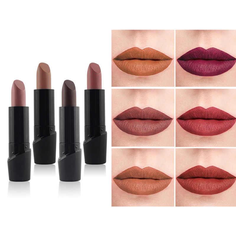 1X Bean color Lipstick Makeup pumpkin color Moisturizer Matte Lip Stick Matte Velvet Lipstick Women Waterproof Lasting Cosmetics