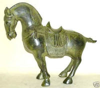 Collection Chinese bronze horse sculpture statue Garden Decoration Bronze Buddha Healing statue