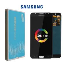 Orijinal 5.5 Samsung Galaxy J7 Duos 2018 J720 LCD ekran dokunmatik ekran Digitizer Digitizer meclisi yedek parçalar
