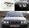Для BMW E46 3 Серии Compact 2001-2004 Отлично led Angel глаза Ultra bright 3528 SMD led Angel Eyes Halo Кольцо комплект