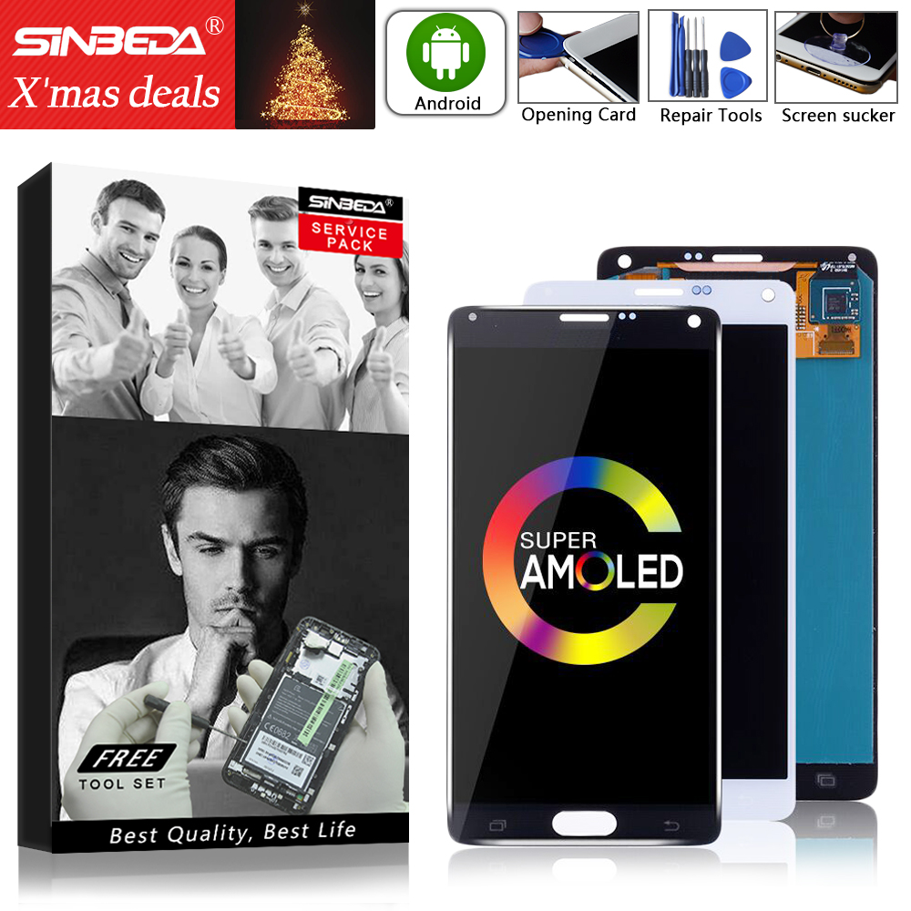 AMOLED For <font><b>Samsung</b></font> Galaxy <font><b>Note</b></font> <font><b>4</b></font> <font><b>LCD</b></font> <font><b>Display</b></font> <font><b>Touch</b></font> <font><b>Screen</b></font> withFrame N910F For <font><b>SAMSUNG</b></font> <font><b>Note</b></font> <font><b>4</b></font> <font><b>Display</b></font> Note4 <font><b>LCD</b></font> N910A Burn-Shadow image