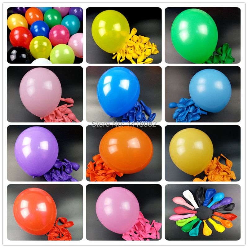 50pcs 2.8g round colorful balloon wedding children's Party Birthday Balloon deco