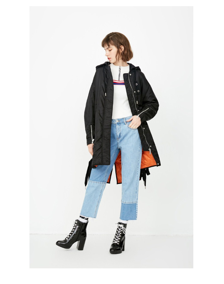 ONLY Women's Lace-up Hooded Cotton Coat |118122502 11