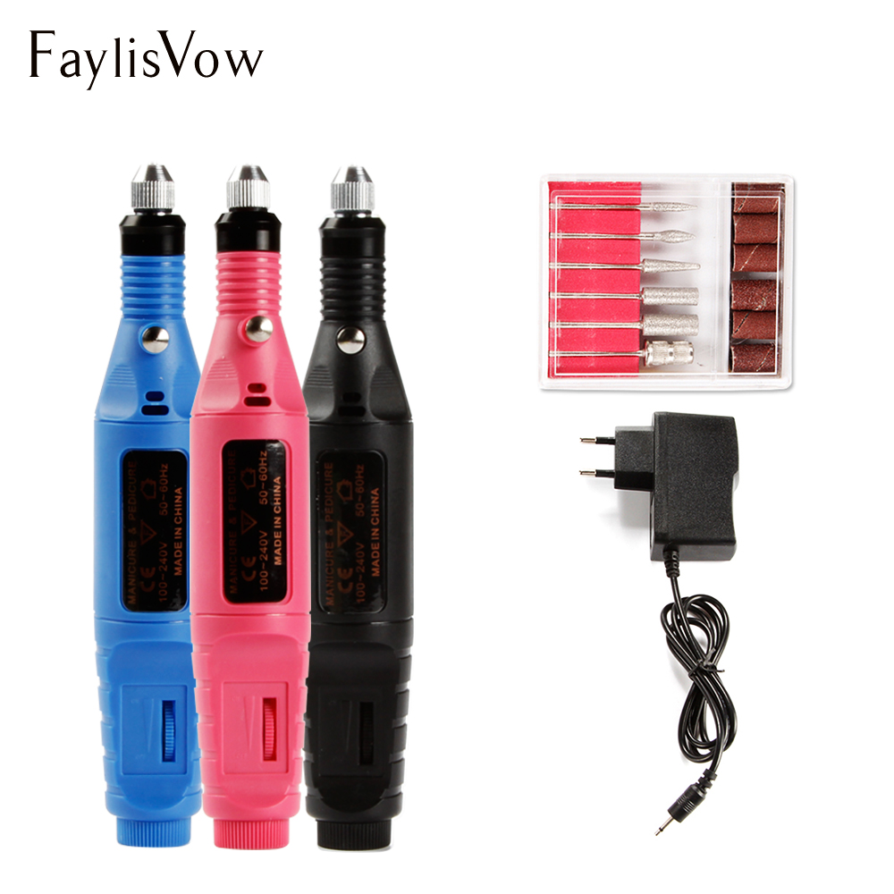 Nail Drill Bit Electric Apparatus Machine For Manicure Pedicure US EU Plug Nail Art Milling Cutters Cuticle Gel Remover Tools