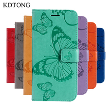 KDTONG For Samsung Galaxy A8 2018 Case Plus A8+ Leather Flip Magnetic Wallet Card Slot Cover