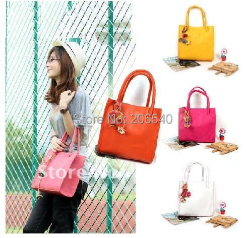 Free shipping Fashion Candy Color Women Handbag Shoulder Bag Lady Clutch 5 Colors