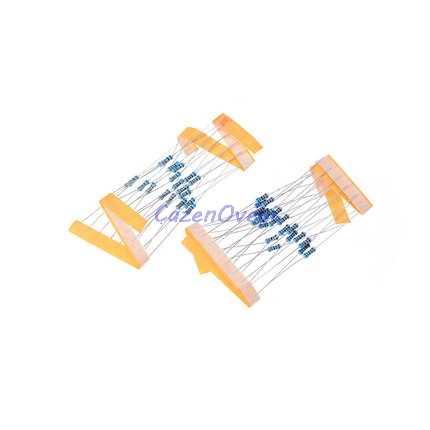 100 قطعة 1/4W المعادن مقاوم من غشاء 1R ~ 1M 100R 220R 330R 1K 1.5K 2.2K 3.3K 4.7K 10K 22K 47K 100K 100 220 330 1K5 2K2 3K3 4K7 أوم
