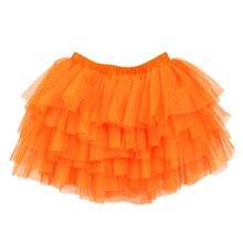 Платье для маленьких девочек платье принцессы с юбкой-пачкой Юбки Pettiskirt, короткое, мини, skirtses танцевальная одежда orange 110 см