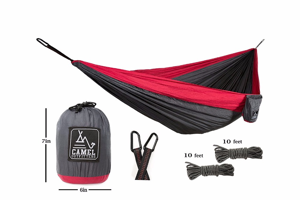 Outfitters XL Double Nylon Parachute Camping Hammock Lightweight Portable with Max 1000 lbs Capacity Best for Backpacking Hiking exerpeutic 1000 magnetic hig capacity recumbent exercise bike for seniors