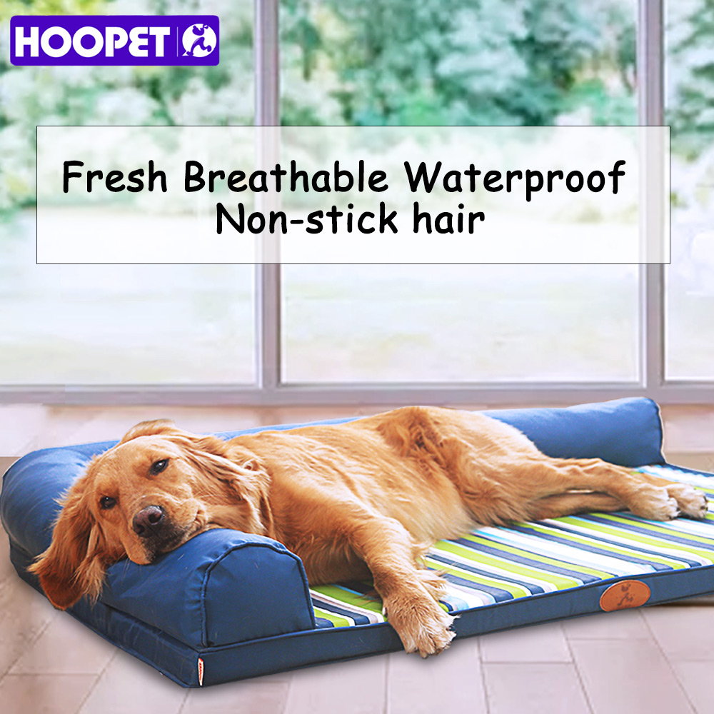 HOOPET Ultimate All Seasons Couch Style Headrest Edition Pillow Top Orthopedic Pet Bed & Lounge for Dogs and Cats Лежаки для собак