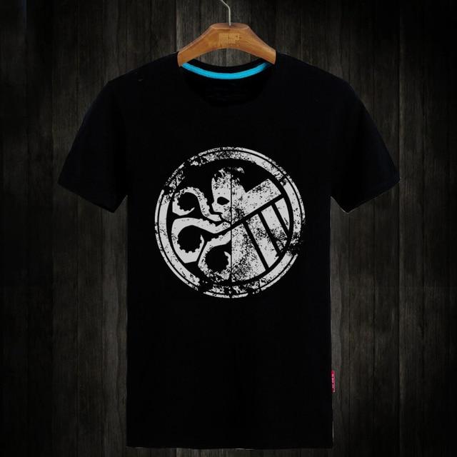 3f13f33dcae2b4 [Xinyu] Agents of S.H.I.E.L.D. SHIELD Eagle Printed women Men Tshirt  Fashion Short Sleeve O