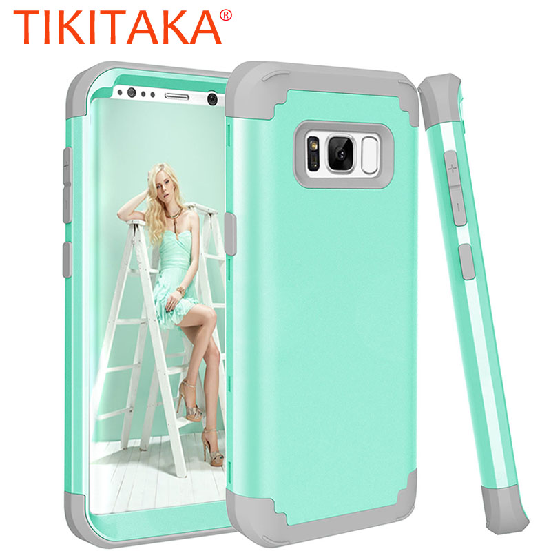 Stoßfest Telefon Fall Für <font><b>Samsung</b></font> <font><b>Galaxy</b></font> <font><b>S8</b></font> S9 S10Plus Note8 Durable PC + TPU 3 Schicht Hybrid Anti-Knock <font><b>full</b></font> <font><b>Body</b></font> Schutzhülle image