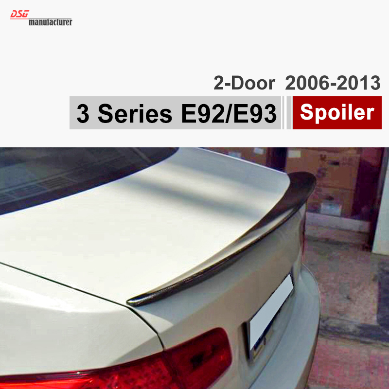 E92 Carbon Fiber Trunk Spoiler Car Wing for BMW 3 Series E92 Coupe and E92 M3 316i 318i 320i 323i M Performance Look Rear Wing for 12 16 bmw 3 series f30 4dr trunk spoiler oem painted match a83 glacier silver