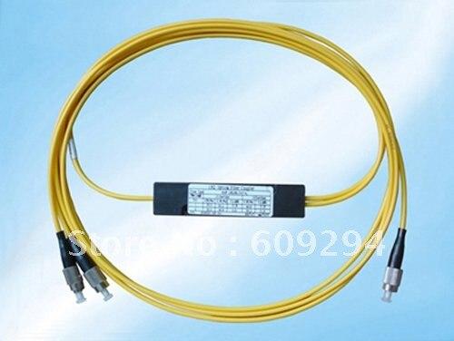 Fiber Optical 1x2 PLC Splitter, Box Module, FC/UPC