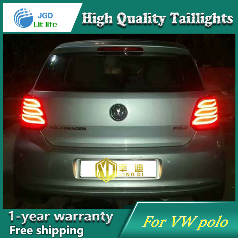 Car Styling Tail Lamp for VW Volkswagen Polo 2011-2016 Tail Lights LED Tail Light Rear Lamp LED DRL+Brake+Park+Signal Stop Lamp new 2017 spring summer women shoes pointed toe high quality brand fashion womens flats ladies plus size 41 sweet flock t179