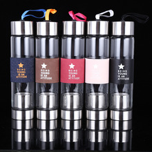 2018 New Fashion With Filter Glass Water Bottle Creative Man Gift Portable Indoor Outdoor Sport