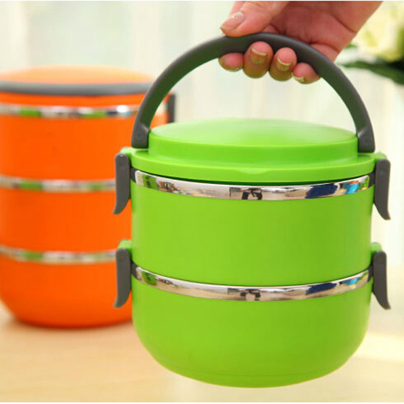 US $10 91 16% OFF|2 Layers Korean Portable Baby Food Container Stainless  Steel Lunch Food Box Thermal Insulated Food Storage Box-in Baby Food  Storage