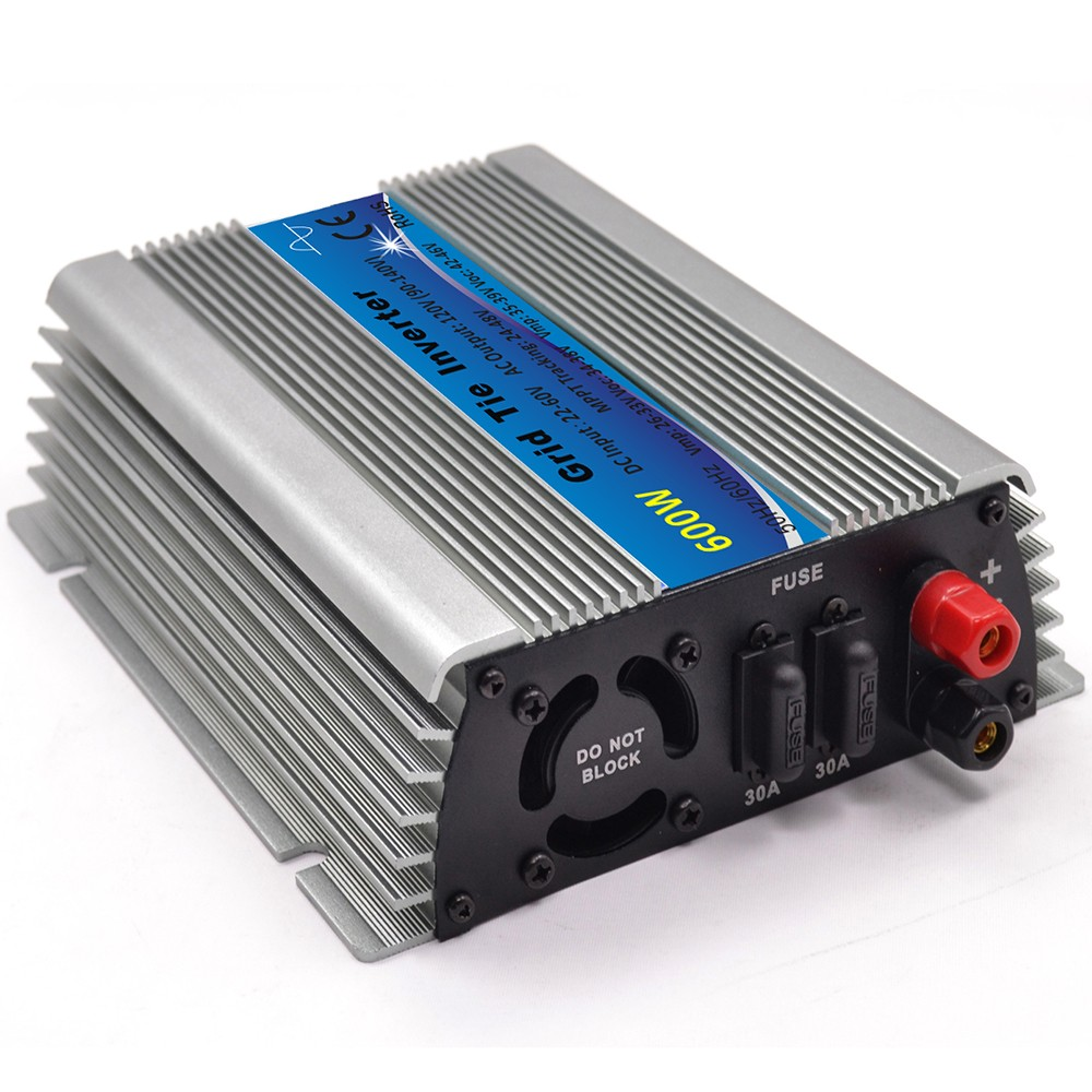mppt micro inversor de onda senoidal 600w energia solar na grade tie micro inversor de onda