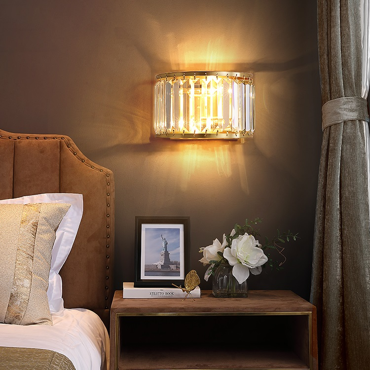 Modern LED Wall Light Fixtures Country Copper Wandlampen Bathroom Mirror Lights Modern Wall Lamp Beside Glass Sconce Lamps|LED Indoor Wall Lamps| |  - title=