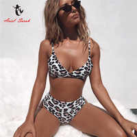 Ariel Sarah Leopard High Waist Bikini Sexy Swimwear Swimsuit Bathing Suit Women Beach Wear Badpak Bikini Mujer Push Up Biquini