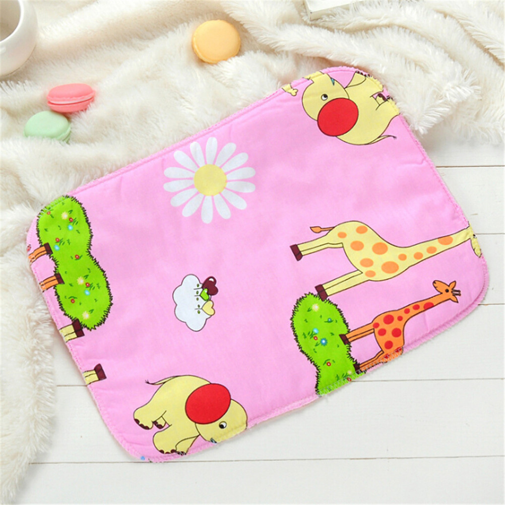 35cm*25cm Baby Infant Diaper Nappy Urine Mat Kid Cotton Waterproof Breathable Bedding Changing Cover Pad