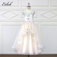 Eslie 2018 Romantic Tulle Flower Girl Dress Sleeveless For Weddings Appliques Girl Party Communion Dress Pageant