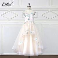 Eslie 2018 Romantic Tulle Flower Girl Dress Sleeveless For Weddings Appliques Girl Party Communion Dress Pageant