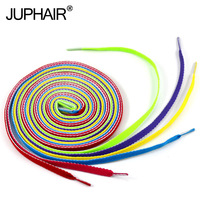 JUP 8 Pairs Men Women Flat Laces Polyester Casual Color for Footwear Athletic Shengdai Board Shoe Shoelaces Shoestring 120-140cm